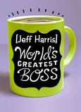World's Greatest Boss Mug 5x7 Folded Card