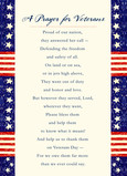 Prayer for Veterans 5x7 Folded Card
