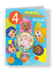 Bubble Guppies Age and Photo 5x7 Folded Card