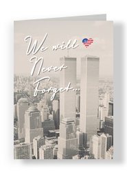Twin Towers Patriot Day 5x7 Folded Card