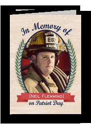 Patriot Day Photo Memorial 5x7 Folded Card
