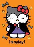Hello Kitty in Vampire Costume 5x7 Folded Card