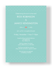 Teal Couples Shower Invitation 5x7 Flat Card