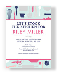 Stock the Kitchen Invitation 5x7 Flat Card
