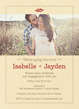 Rustic Photo Engagement Party 5x7 Flat Card