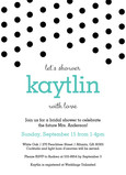 Shower Invite Black Dot Design 5x7 Flat Card