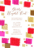 Girls Night Glitter Design 5x7 Flat Card