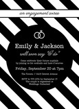 Bold Black & White Engagement Party 5x7 Flat Card