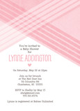 Baby Shower - Pink Diagonal Lines 5x7 Flat Card