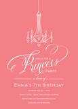 Princess Party Chandelier on Pink 5x7 Flat Card