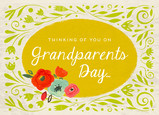 Vintage Look Grandparents Day 7x5 Folded Card