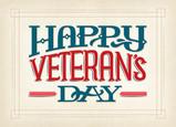 Veteran's Day Lettering 7x5 Folded Card