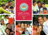 Diwali Bright Floral and Photos 7x5 Flat Card
