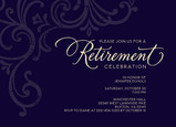 Formal Retirement Invitation 7x5 Flat Card
