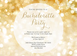 Bachelorette Party Gold Sparkles 7x5 Flat Card