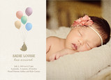 Baby Bundle with Balloons 7x5 Flat Card