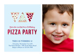 Pizza Party Invitation 7x5 Flat Card