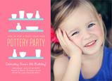 Pottery Painting Party Invitation 7x5 Flat Card