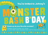 Monster Bash Birthday invitation 7x5 Flat Card