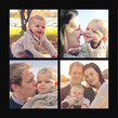 4 Photo Grid - Black 4.75x4.75 Folded Card