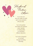 Two Hearts Sweetest Day Husband 5x7 Folded Card