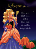 Princess Jewelliette Halloween 5x7 Folded Card