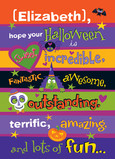 Kids Halloween Lettering Design 5x7 Folded Card