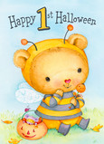 1st Halloween - Bear in Bee Costume 5x7 Folded Card