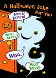 Ghostly Knock-knock Joke 5x7 Folded Card