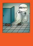 Toilet Paper Ghost 5x7 Folded Card