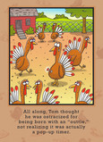 Turkey Pop-up Timer 5x7 Folded Card