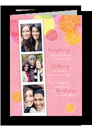 Friendship Photo-strip 5x7 Folded Card