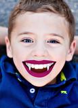 Vampire Teeth Overlay 5x7 Folded Card
