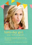 Birthday Girl Definition 5x7 Folded Card
