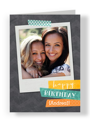 Birthday Instant Photo 5x7 Folded Card