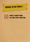Checklist on Kraft Paper 5x7 Folded Card
