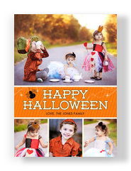Halloween Multi-photo with Spider 5x7 Flat Card