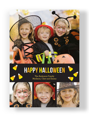 Candy Corn Design - 4 Photos 5x7 Flat Card