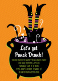 Punch Drunk Cauldron Invitation 5x7 Flat Card