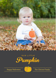 Our Little Pumpkin - Single Photo 5x7 Flat Card