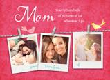 Mom Photos on Clothesline 7x5 Folded Card