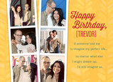 Birthday Photo-strips 7x5 Folded Card