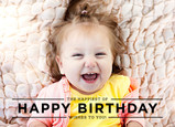 Happy Birthday Overlay - Black 7x5 Folded Card