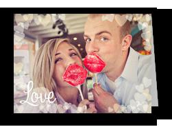 Love and Hearts Overlay 7x5 Folded Card