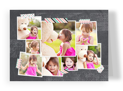 Photos with Washi Tape on Chalkboard 7x5 Folded Card
