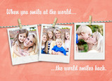 Photos on Clothesline with Quote 7x5 Folded Card