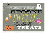 Spooks, Sweets, Tricks & Treats 7x5 Folded Card