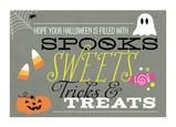 Spooks, Sweets, Tricks & Treats 7x5 Folded Card