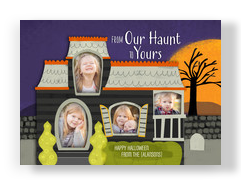 Haunted House with Photo Windows 7x5 Flat Card