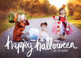Happy Halloween Spider Web Overlays 7x5 Flat Card